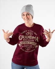They call me Grandma because partner in crime Crewneck Sweatshirt apparel-crewneck-sweatshirt-lifestyle-front-35