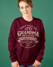 They call me Grandma because partner in crime Crewneck Sweatshirt apparel-crewneck-sweatshirt-lifestyle-front-41
