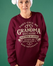 They call me Grandma because partner in crime Crewneck Sweatshirt apparel-crewneck-sweatshirt-lifestyle-front-42