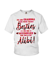 Me and Grandma are more than besties Youth T-Shirt front