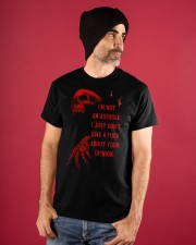 About Your Opinion Classic T-Shirt apparel-classic-tshirt-lifestyle-front-89
