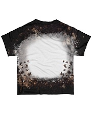 Your Text Here Bleached All-over T-Shirt back