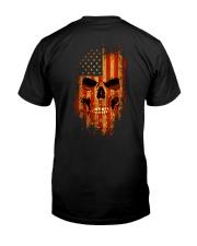 Grim Reaper US Flag Classic T-Shirt back