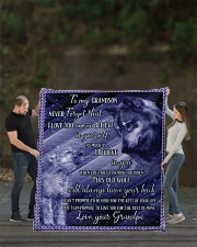 """To my Grandson Never forget that I love you Quilt 70""""x80"""" - Queen aos-quilt-70x80-lifestyle-front-02"""