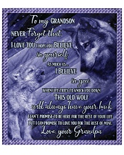 """To my Grandson Never forget that I love you Quilt 70""""x80"""" - Queen front"""