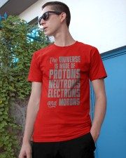 The Universe is made of Protons Neutrons Electrons Classic T-Shirt apparel-classic-tshirt-lifestyle-17