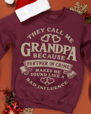They call me Grandpa because partner in crime Crewneck Sweatshirt apparel-crewneck-sweatshirt-lifestyle-front-20