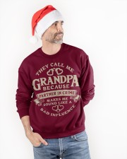 They call me Grandpa because partner in crime Crewneck Sweatshirt apparel-crewneck-sweatshirt-lifestyle-front-34