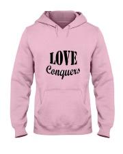 Love Conquers Hooded Sweatshirt thumbnail