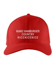 MAKE HAMBURGER COUNTRY NICENICENICE Embroidered Hat front