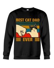 Best cat Dad Ever All clothing Crewneck Sweatshirt thumbnail