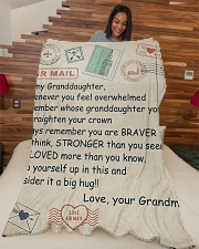 """TO MY GRANDDAUGHTER Large Fleece Blanket - 60"""" x 80"""" aos-coral-fleece-blanket-60x80-lifestyle-front-04"""