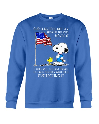 Snoopy our flag does not fly because the wind move