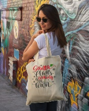 Santa is coming to town Tote Bag lifestyle-totebag-front-1