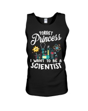 Forget Princess I Want To - Scientist Girl Science Unisex Tank thumbnail
