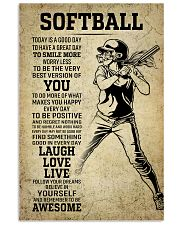 Love Softball 11x17 Poster front