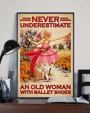 NEVER UNDERESTIMATE AN OLD WOMAN WITH BALLET SHOES 11x17 Poster lifestyle-poster-2