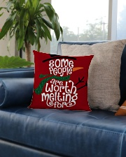 MERRY CHRISTMAS  Square Pillowcase aos-pillow-square-front-lifestyle-02