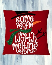 MERRY CHRISTMAS  Square Pillowcase aos-pillow-square-front-lifestyle-27