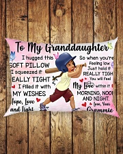 TO MY GRANDDAUGHTER GRAMMIE Rectangular Pillowcase aos-pillow-rectangle-front-lifestyle-2