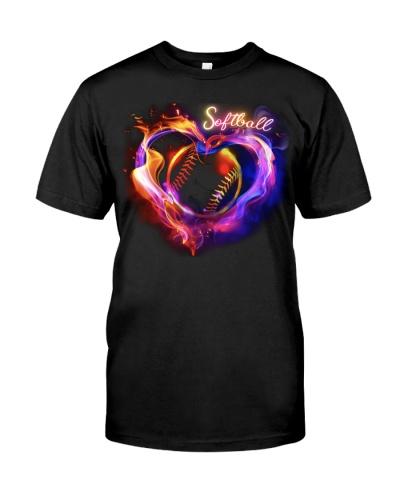Softball Glow Heart