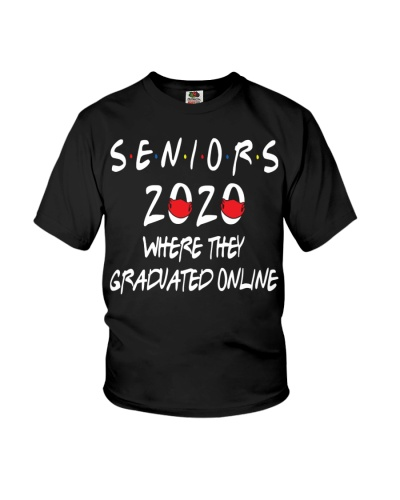 Senior  where they were graduated online