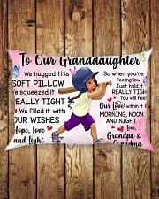 TO OUR GRANDDAUGHTER  Rectangular Pillowcase aos-pillow-rectangle-front-lifestyle-2