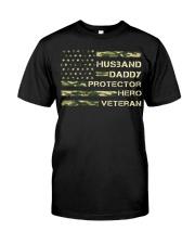 Husband Hero Veteran Classic T-Shirt front