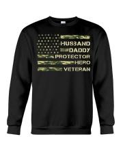 Husband Hero Veteran Crewneck Sweatshirt thumbnail