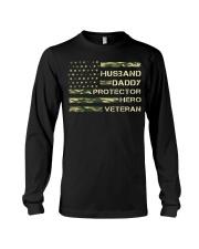 Husband Hero Veteran Long Sleeve Tee thumbnail