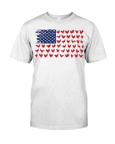 CHICKEN FLAG USA