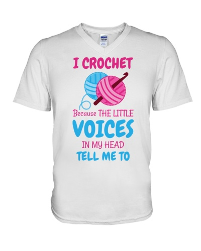 I CROCHET BECAUSE THE LITTLE VOICES IN MY HEAD
