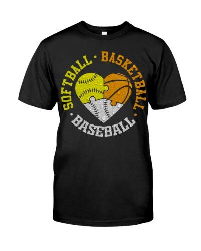Softball Basketball Baseball