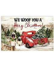 WE WOOF YOU A HAIRY CHRISTMAS 17x11 Poster front
