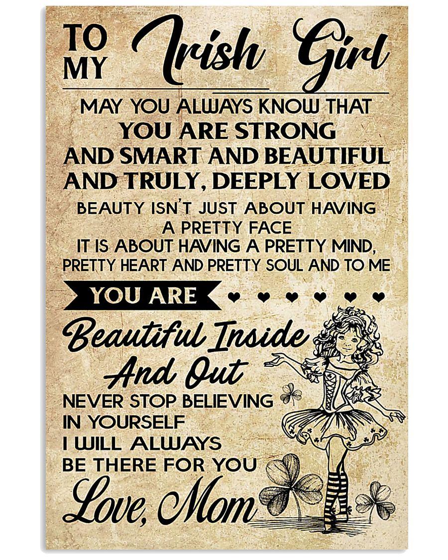 TO MY IRISH GIRL  11x17 Poster