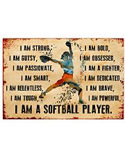 I AM A SOFTBALL 17x11 Poster front