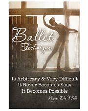 BALLET TECHNIQUE 11x17 Poster front