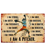 I AM A PITCHER 17x11 Poster front
