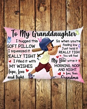 TO MY GRANDDAUGHTER Rectangular Pillowcase aos-pillow-rectangle-front-lifestyle-2