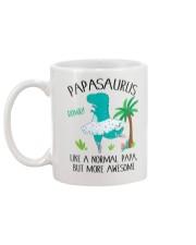 PAPASAURUS LIKE A NORMAL PAPA BUT MORE AWESOME Mug back