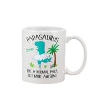 PAPASAURUS LIKE A NORMAL PAPA BUT MORE AWESOME Mug front