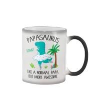 PAPASAURUS LIKE A NORMAL PAPA BUT MORE AWESOME Color Changing Mug tile