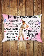 TO MY GRANDSON Rectangular Pillowcase aos-pillow-rectangle-front-lifestyle-2