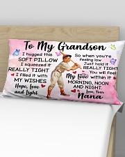 TO MY GRANDSON Rectangular Pillowcase aos-pillow-rectangular-front-lifestyle-02