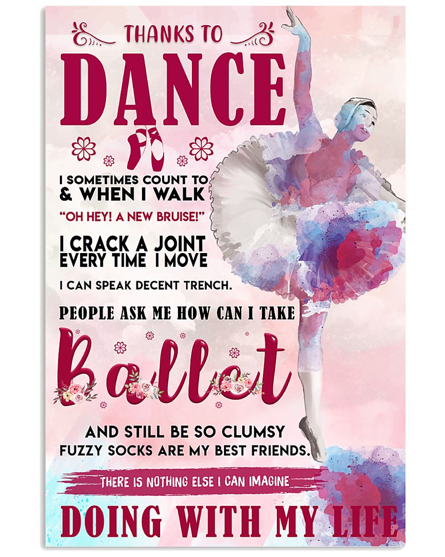 THANKS TO DANCE  11x17 Poster