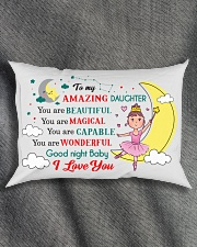 TO MY AMAZING DAUGHTER  Rectangular Pillowcase aos-pillow-rectangle-front-lifestyle-1