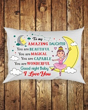 TO MY AMAZING DAUGHTER  Rectangular Pillowcase aos-pillow-rectangle-front-lifestyle-2