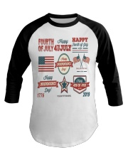 happy 4th of july shirt independente day america  Baseball Tee thumbnail