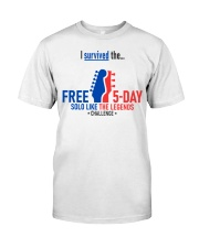 5-Day Challenge - Survived Classic T-Shirt front