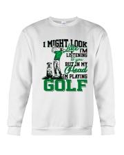 I might look like I'm listening to you Golf Crewneck Sweatshirt tile